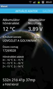 Android üzenet küldés MASAT-1