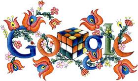 Rubik kocka Google doodle